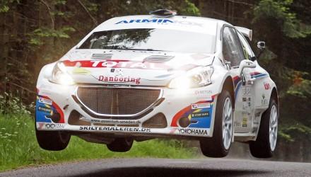 Der var sekundtætte fights og flyveture i Ecoteck Rally Himmerland 2014 - Christian Jensen/Freddy Petersen vandt samlet