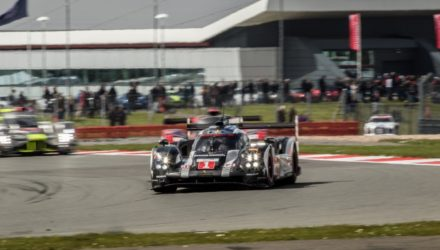 17th April - 12h26 Car # 1 / PORSCHE TEAM / DEU / Porsche 919 / Timo Bernhard (DEU) / Mark Webber (AUS) / Brendon Hartley (NZL) - WEC 6 Hours of Silverstone - Silverstone Circuit - Towcester, Northamptonshire - UK © Adrenal Media - AdrenalMedia.com