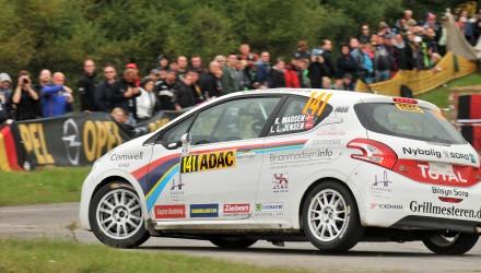 Kim Madsen, Line Lykke Jensen, Peugeot 208 R2, WRC Rallye Deutschland 2014. Foto: Rallypics.dk