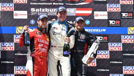 Michel Nykjær vandt på Salzburgring. Team Prego Racing