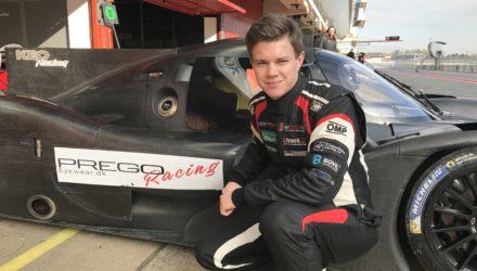 Martin Vedel kørte fantastisk LMP3 test i Spanien