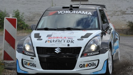 Kenneth Madsen og Henrik Dernoff har mulighed for at sikre sig deres tredje Danmarksmesterskab ved Stilo Rally Odder 2014.