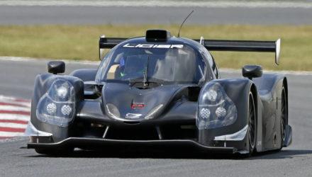 Nicholai Eberhard og Martin V. Jensen skal torsdag teste denne LMP3-racer