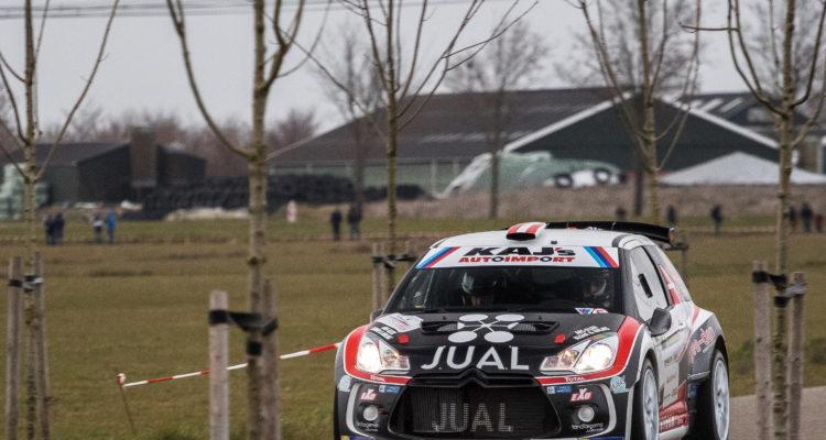 Rallybilen blev testet på de hollandske veje af Ib Kragh