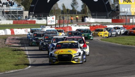 Den bedste svenske motorsportsklasse, STCC, kan næste år igen opleves på dansk grund, når en afdeling af STCC køres på FDM Jyllandsringen. (Foto: STCC AB/Teambild)