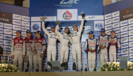 Mark Webber, Brendon Hartley og Timo Bernhard har vundet World Endurance Champion (WEC) 2015 i LMP1-klassen