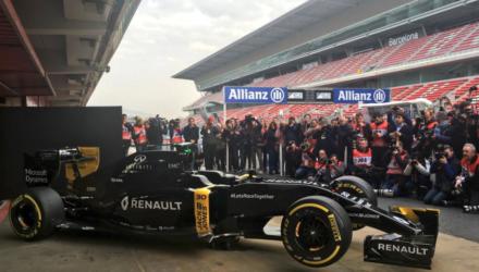Kevin Magnussen og den nye Formel 1 racer fra Renault. Se ugens Formel 1 sendetider