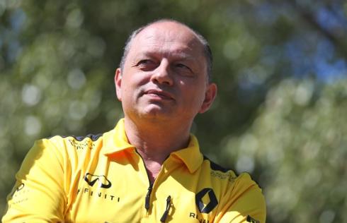 Renault Sport F1 racing director Frederic Vasseur