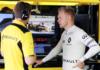 Kevin Magnussen under Ruslands F1 Grandprix med alvorens mine på