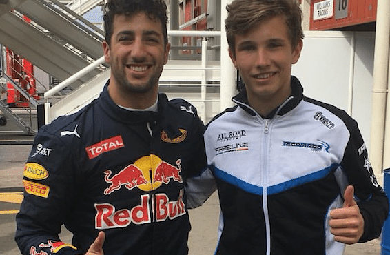 Christian Lundgaard mødte sit store idol Daniel Ricciardo