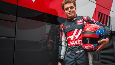 Santino Ferrucci er testkører for Haas i 2017