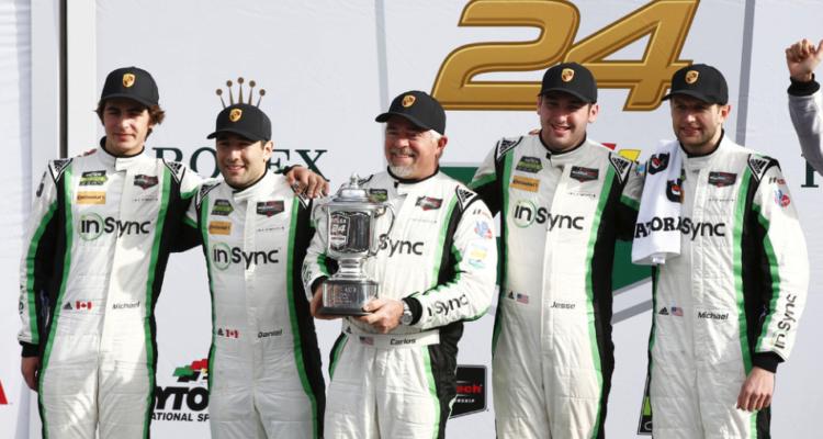 Michael de Quesada, Daniel Morad, Carlos de Quesada, Jessi Lazare, Michael Christensen vinder af Daytona24H 2017