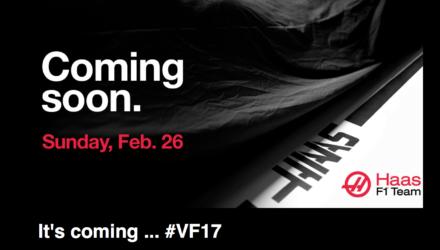 Haas præsenterer sin nye formel 1 bil den 26. februar 2017 med Kevin Magnussen
