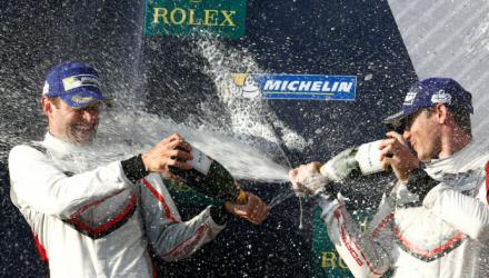 Det var en tilfreds Michael Christensen, som sammen med Kévin Estre fra Frankrig kunne stille sig på podiet i WEC FIA VM-serien lørdag aften lokal tid i Austin.