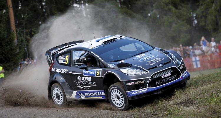 Ott Tanak (Est) / Kuldar Sikk - Ford Fiesta RS WRC. Day one, 2012 Rally Finland