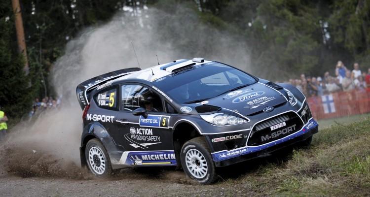 Ott Tanak (Est) / Kuldar Sikk - Ford Fiesta RS WRC. Day one, 2012 Rally Finland
